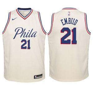 Youth Philadelphia 76ers #21 Joel Embiid Jersey